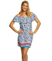 Tommy Bahama Graphic Tropics Island Lush Off The Shoulder Dress