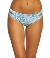 Roxy Women's Printed Softly Love Reversible 70's Pant Bikini Bottom