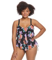 Beach House Plus Size Bungalow Bay Flower Portia Tankini Top