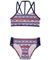 Gossip Girl Girls' Desert Stripe Bikini (Big Kid)