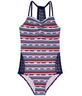 Gossip Girl Girls' Desert Stripe One Piece Swimsuit (Big Kid)