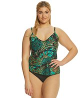 Ceeb Plus Size Emerald Sun Tankini Top