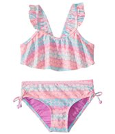 Hula Star Girls' Hearts Galore Two Piece Bikini (Toddler, Little Kid)