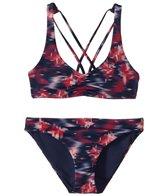 Roxy Girls' Tropi Sporty Tri Swimwear Set (Big Kid)