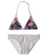 Roxy Girls' Surfing Miami Tiki Tri Swimwear Set (Big Kid)