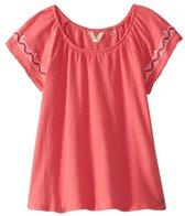 Roxy Girls' Loving Arms Boho Short Ruffled Sleeve Shirt (Toddler, Little Kid, Big Kid)