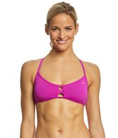 Speedo Turnz Women's Solid Peek Tie Bikini Top