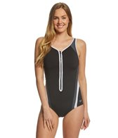 Speedo Women's Plunge Zip Contour One Piece Swimsuit