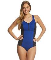 Speedo Texture Touchback One Piece Swimsuit