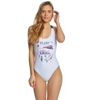 b560cc295a99e Volcom Fresh Ink One Piece Swimsuit at SwimOutlet.com - Free Shipping