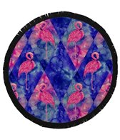 Round Towel Company The Dazed Flamingo Round Towel