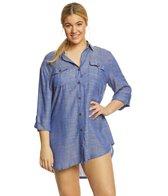 Dotti Plus Size Cabana Life Shirt Dress