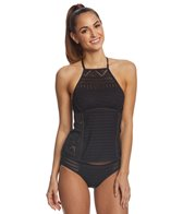 Anne Cole Crochet All Day High Neck Tankini Top
