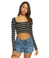 Billabong This Much Crop Bodycon Top