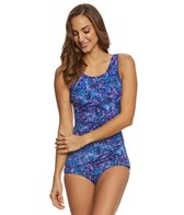 T.H.E. Mastectomy Galaxy Sheath One Piece Swimsuit