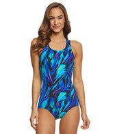 T.H.E. Mastectomy Wild Iris Swimmers Back One Piece Swimsuit