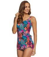 T.H.E. Mastectomy Tropicana Sarong Sheath One Piece Swimsuit
