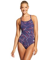 e89e15acb23 Arena Women's Tie Dye MaxLife Challenge Back One Piece Swimsuit at ...