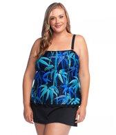 8e0bab912c3 Maxine Plus Size Palm Beach Ruffled Tankini Top at SwimOutlet.com ...