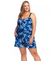 25054a3aa098 Maxine Plus Size Rain Dance Swimdress at SwimOutlet.com - Free Shipping