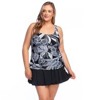 baeee0f390d2 Maxine Plus Size Linework Peplum Tankini Top at SwimOutlet.com ...