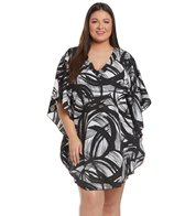 74e358419cc52 Tommy Bahama Plus Size Crinkle Boyfriend Cover Up Shirt at ...
