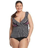 163a94b0cf593 Anne Cole Signature Plus Size In Full Bloom High Neck Tankini Top at ...