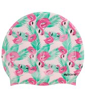 sporti-flamingo-floaties-silicone-swim-cap