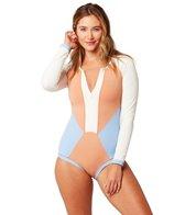l-space-color-block-mod-long-sleeve-one-piece-swimsuit