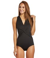gabar-chlorine-resistant-drapped-twist-v-neck-one-piece-swimsuit