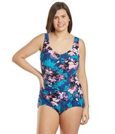 maxine-plus-size-april-flowers-shirred-girl-leg-one-piece-swimsuit