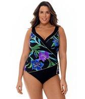 longitude-plus-size-canton-tassel-surplice-one-piece-swimsuit