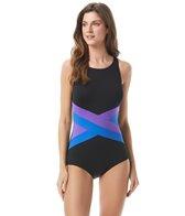 gabar-plus-size-chlorine-resistant-color-block-solid-one-piece-swimsuit-cd-cup