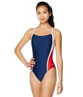 speedo-womens-solid-splice-relay-back-one-piece-swimsuit