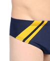 Waterpro Sprint Poly Striped Racer Brief Swimsuit