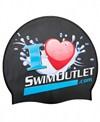 I Love SwimOutlet.com Silicone Swim Cap