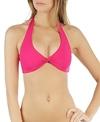 L-Space Swimwear Sensual Solids Bella Twist Halter Bikini Top