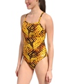 Speedo Toxic Tie Dye Flyback One Piece Swimsuit