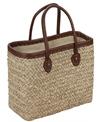 Sun N Sand Woodland Hue Straw Square Tote Beach Bag