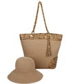 Physician Endorsed Anaconda Straw Bag & Hat Set