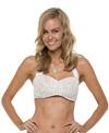 Jantzen Dolce Vita Lace Shirred Bandeau Bikini Top