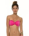 Sofia Solid Rocotto Ripple Bandeau Bikini Top