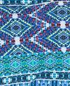Red Carter Moroccan Tile Tassle Triangle Bikini Bottom