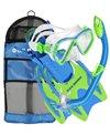 U.S. Divers Jr. Regal Mask, Laguna Snorkel,Trigger Fins Set with Gear Bag