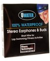Fitness Technologies Uwater12 100% Waterproof Lap Swimming Stereo Earphones (Short)
