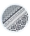 Beach Lulu The Tribal Round Beach Towel
