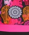 Dolfin Women's Aquashape Scoop Back Color Block Print One Piece Swimsuit