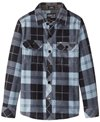 O'Neill Boys' Glacier Plaid Flannel Shirt (Toddler, Little Kid)