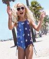 Limeapple Girls' Rebel Star Strappy One Piece Swimsuit (Big Kid, Little Kid)