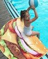 Round Towel Company The Sandy Buns Burger Round Towel